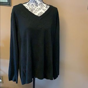 Sweaters - Black sweater with some beading